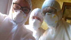 drei schueler mit masken auf in der bbs stadthagen