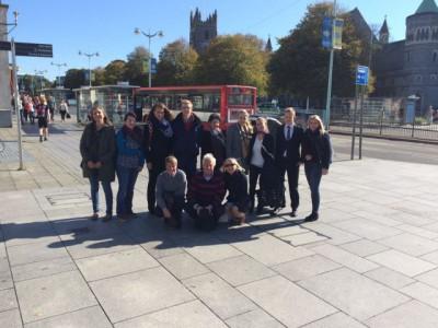 schueler in plymouth england auf einem auslandspraktikum seitens der schule