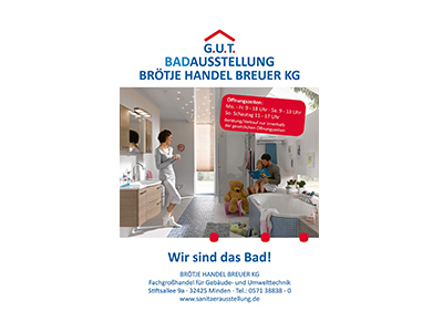 Sponsor: G.U.T. Badausstellung Brötje Handel Breuer KG, Minden