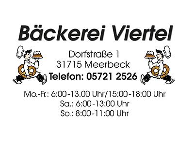 Sponsor: Bäckerei Viertel, Meerbeck