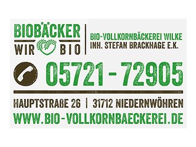 Sponsor: Bio-Vollkornbäckerei Wilke, Niedernwöhren