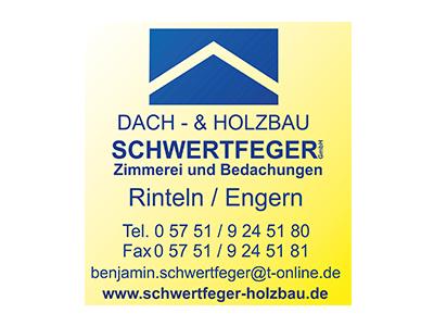 Sponsor: Dach- und Holzbau Schwerdtfeger, Zimmerei und Bedachungen, Rinteln-Engern
