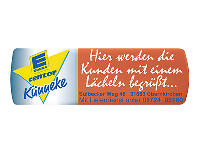 Sponsor: E-Center, EDEKA, Obernkirchen