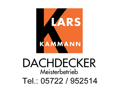 Sponsor: Lars Kammann - Dachdecker Meisterbetrieb, Bückeburg