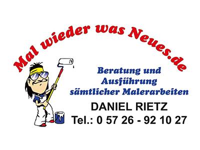 Sponsor: Malerbetrieb Daniel Rietz