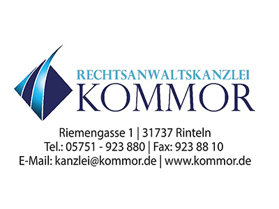 Sponsor: Rechtsanwaltskanzlei Kommor, Rintein
