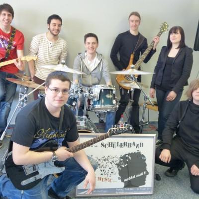 die schuelerband im neuen musikraum im jahr 2013