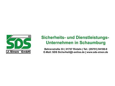 Sponsor: SDS J. Sinen GmbH - Sicherheits- und Dienstleistungs-Unternehmen in Schaumburg