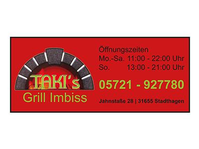 Sponsor: TAKI's Grill Imbiss