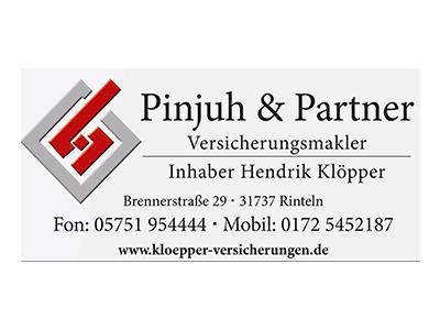 Sponsor: Pinjuh & Partner Versicherungsmakler, Inh. Hendrik Klöpper, Rinteln